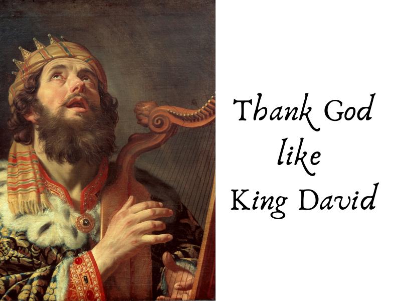 Thank God like King David! (8)